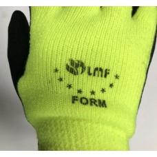 LMF Thermal Double Lined Black Rubber Work Glove