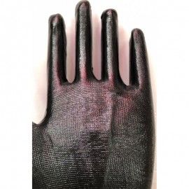 Flat rubber work Gloves Size: 9