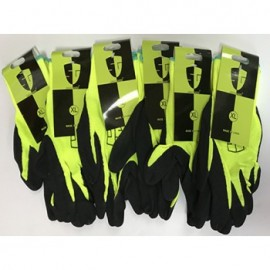 High visible Green LATEX PALM COATED Nylon flexible glove