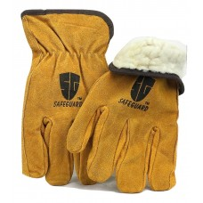Cowhide Yellow Full leather work glove with insulation.1 dozen (12 pairs)