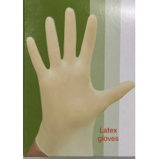 SAFEGUARD Latex Powder Free Gloves, 100 Pcs, 2/pack.Beige.