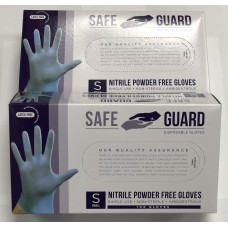 Safeguard Nitrile Disposable Gloves, Powder Free.100/PCS-2/PACK.