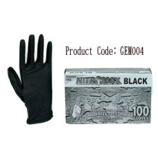 NitroMax Black Nitrile Exam Gloves, 5 Mil, Box of 100 Gloves.2-Pack