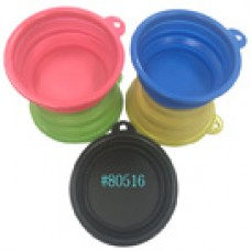 Silicone Collapsible pet Portable and Foldable Travel Bowls
