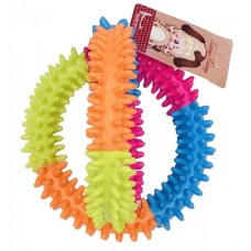 Pet Supplies Natural Rubber Dog Chew Toy - Spiky Dumbbell