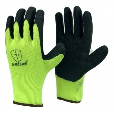 HI-Visible Green LATEX PALM COATED cotton flexible glove