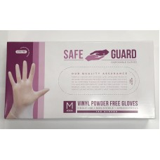 SafeGuard Disposable Vinyl Powder Free Gloves, 100 Gloves-2/PACK
